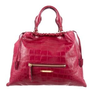 Burberry Large Alligator Skin Crush Tote/crossbody